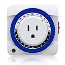 billige Projektorer-24-timers plug-in mekanisk stikkontaktstikkontakt 3 stikkontakt