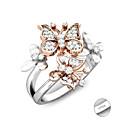 billige Hundepleiemateriell-personlig tilpasset Hvit Kubisk Zirkonium Ring Klassisk Gave Love Festival Geometrisk Form 1pcs Sølv