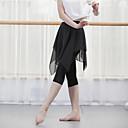 ราคาถูก เสื้อผ้ากีฬา-ชุดเต้นละติน ด้านล่าง สำหรับผู้หญิง Performance Modal / ชิฟฟอน กระโปรงระบาย ธรรมชาติ กางเกง