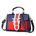 ราคาถูก กระเป๋า Totes-สำหรับผู้หญิง PU กระเป๋าถือยอดนิยม ลายบล็อคสี สีดำ / ไวน์ / ขาว / ฤดูใบไม้ร่วง & ฤดูหนาว