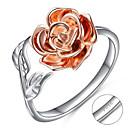 billige Graverte Ringer-personlig tilpasset Klar Kubisk Zirkonium Ring Klassisk Gave Love Festival Geometrisk Form 1pcs Sølv