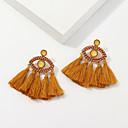 זול עגילים-בגדי ריקוד נשים עגילי טיפה עגיל עגילים תכשיטים חום עבור Party יומי רחוב חגים פֶסטִיבָל זוג 1