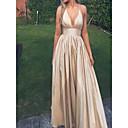 זול שמלות שושבינה-גזרת A קולר עד הריצפה סאטן ערב רישמי שמלה עם תד נשפך על ידי JUDY&JULIA