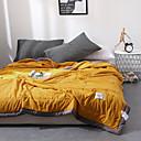 זול שמיכות וכיסויי מיטה-נוֹחַ - 1 יחידה שמיכה סתיו / אביב / קיץ מיקרופייבר אחיד / פשוט