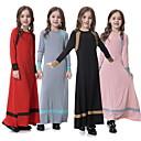 billige Lekebiler-Tradisjonell og kulturell slitasje Abaya Jente Dagligdagstøy Polyester Kombinasjon Langermet Abaya
