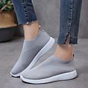 ราคาถูก รองเท้าแตะและรองเท้าโลฟเฟอร์สำหรับผู้หญิง-สำหรับผู้หญิง รองเท้าส้นเตี้ยทำมาจากหนังและรองเท้าสวมแบบไม่มีเชือก ส้นแบน ปลายกลม ผ้ายืดหยุ่น ฤดูใบไม้ผลิ & ฤดูใบไม้ร่วง สีดำ / ฟ้า / สีชมพู