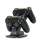 billiga Wii-tillbehör-dual usb laddningsstativ station vagga för Sony Playstation 4 PS4 Pro / PS4 slim