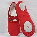 baratos Lembrancinhas Práticas-Para Meninas Sapatos de Dança Lona Sapatilhas de Balé Sapatilha Sem Salto Branco / Vermelho / Rosa claro / Espetáculo / Ensaio / Prática