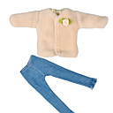 billiga Docktillbehör-Yiwu pto_03mv1pcs29cm Barbie Doll Kläder Doll Winter Top + Pants Multi Style Lämplig för 29cm Dolls Wear _ Doll Winter Sweater + Tassel Jeans # 1