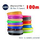 povoljno 3D printeri-myriwell abs 1.75mm filament 20colors 5m slučajne boje odabrane 3d tiskane pcl 1.75mm 3d olovke plastične 3d pisač nit 3d pens abs sigurnost okoliša