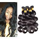 povoljno Ekstenzije od prave kose prirodne boje-5 paketića Brazilska kosa Tijelo Wave Valovita kosa Ljudska kosa Ljudske kose plete 8-26 inch Isprepliće ljudske kose Rasprodaja Proširenja ljudske kose / 8A