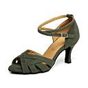 ราคาถูก รองเท้าแบบลาติน-สำหรับผู้หญิง รองเท้าเต้นรำ หนังเทียม ลาติน ส้น ส้นCuban ตัดเฉพาะได้ สีเขียว / แดง / Performance / หนังสัตว์ / ฝึก