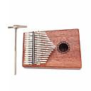ราคาถูก เครื่องดนตรีประเภทตี-Kalimba 17 Key Finger Mbira Sanza Thumb Piano ไม้ 18.5*13.5*3.2 cm