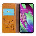 billige Samsung-tilbehør-Etui Til Samsung Galaxy Samsung Galaxy A40 (2019) Kortholder / Flipp Heldekkende etui Ensfarget Hard PU Leather