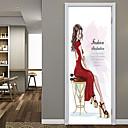 Χαμηλού Κόστους Αυτοκίνητο Διακόσμηση και Προστασία Σώματος-μόδα αυτοκόλλητα πόρτα ομορφιάς διακοσμητικά αδιάβροχο decal πόρτα