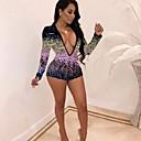 זול אקזוטי Dancewear-S M L קולור בלוק, Rompers ישר לבן סגול ורוד מסמיק בסיסי בגדי ריקוד נשים