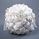 povoljno Jastuk za prstenje-Cvijeće za vjenčanje Buketi Vjenčanje / Svadba Grosgrain / staklo / Perle 11-20 cm
