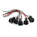 זול Others-5pcs t10 הוביל אור שקע מנורה מחזיק חוט מחבר