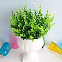 billige Kornpærer med LED-10pc simulering vann gress 7 gaffel medium eucalyptus kunstig blomst ornament falsk blomst soverom studie dekorasjon