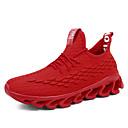 baratos Sapatos Esportivos Masculinos-Homens Sapatos Confortáveis Tissage Volant Primavera Verão / Outono & inverno Casual Tênis Respirável Preto / Vermelho / Cinzento