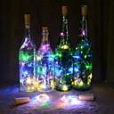 ราคาถูก สายไฟ LED-2m ไฟสาย LED ปรับได้ 20 ไฟ LED ขาวนวล / หลากสี ตกแต่งงานแต่งงานในเทศกาลคริสต์มาส / ที่วางขวดไวน์จุกไม้ก๊อก แบตเตอรี่ขับเคลื่อน 1pc