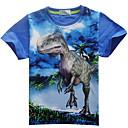 billige Topper til gutter-Dongguan pby_06eg gutt sommer kort ermet dinosaur t-skjorte rød_110cm