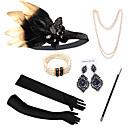 Χαμηλού Κόστους Στολές της παλιάς εποχής-The Great Gatsby Κρεμαστό Σκουλαρίκι Ρετρό / Βίντατζ 1920s Gatsby Τεχνητό φτερό Αξεσουάρ Κοστού Αξεσουάρ Γάντια Κολιέ Για Πάρτι / Κοκτέιλ Φεστιβάλ Halloween Απόκριες Γυναικεία Κοστούμια Κοσμήματα