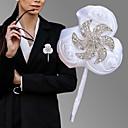 billige Bryllupsblomster-Bryllupsblomster Boutonnieres Bryllup / Bryllupsfest Groskorn / Aluminium-magnesium legering 0-10 cm