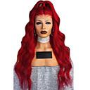 Χαμηλού Κόστους Συνθετικές περούκες χωρίς σκουφί-Συνθετικές Περούκες Κυματομορφή Σώματος Κούρεμα με φιλάρισμα Περούκα πολύ μακριά Κόκκινο Καρπουζιού και Συνθετικά μαλλιά 64~68 inch Γυναικεία Νέα άφιξη Κόκκινο
