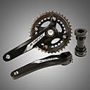 ราคาถูก เฟืองจักรยานและระบบขับเคลื่อน-ข้อเหวี่ยง สำหรับ จักรยานปีนเขา Aluminum Alloy ลดการถลอก / ทนทาน / Easy to Install จักรยาน สีดำ