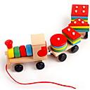billige Sammenkoblede blokker-Sammenlåsende blokker Tog Lindrer ADD, ADHD, angst, autisme Dekompresjon Leker Foreldre-barninteraksjon Tog Bil Vanlig 3 pcs Barne Alle Leketøy Gave