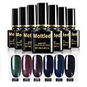 Χαμηλού Κόστους Μαξιλαροθήκες-6 τεμάχια χρώματος 247-252 στίλβωση απορροφητικό UV / led gel νυχιών στιλβωμένο στερεό χρώμα νυχιών σύνολα
