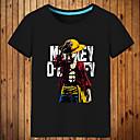 billiga Anime-huvtröjor och sweatshirts-Inspirerad av One Piece Monkey D. Luffy Animé Cosplay-kostymer Japanska Cosplay T-shirt Tryck Kortärmad Topp Till Herr / Dam