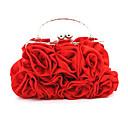ราคาถูก กระเป๋าถือออกงานและกระเป๋าคลัทช์-สำหรับผู้หญิง ดอกไม้ ผ้าไหม กระเป๋าราตรี พิมพ์ดอกไม้ สีดำ / สีเงิน / ทับทิม / ฤดูใบไม้ร่วง & ฤดูหนาว