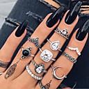 Χαμηλού Κόστους Τσάντες χιαστί-Γυναικεία Σετ δαχτυλιδιών Δαχτυλίδι για πολλά δάχτυλα 10pcs Ασημί Ρητίνη Στρας Κράμα Geometric Shape Βίντατζ Μποέμ Καθημερινά Δρόμος Κοσμήματα Με κοψίματα Αχλάδι Απίθανο Lovely