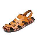 Χαμηλού Κόστους Αντρικά Πέδιλα-Ανδρικά Παπούτσια άνεσης Δερμάτινο Καλοκαίρι / Ανοιξη καλοκαίρι Καθημερινό Σανδάλια Αναπνέει Λευκό / Μαύρο / Καφέ