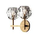 baratos Arandelas de Exterior-2-luz arandelas de parede g9 cristal luminárias de parede pós-moderno de cristal lâmpada de parede lâmpada de parede para o quarto de ouro