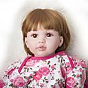 Χαμηλού Κόστους Κούκλες σαν αληθινές-Κούκλες σαν αληθινές Μωρά Κορίτσια 24 inch Παιδικό / Εφηβικό Παιδικά Γιούνισεξ Παιχνίδια Δώρο