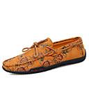ราคาถูก รองเท้าแตะ & Loafersสำหรับผู้ชาย-สำหรับผู้ชาย รองเท้าสบาย ๆ หนังสัตว์ / ผ้าใบ ฤดูร้อน ไม่เป็นทางการ รองเท้าส้นเตี้ยทำมาจากหนังและรองเท้าสวมแบบไม่มีเชือก วสำหรับเดิน ระบายอากาศ สีเหลือง / แดง / ฟ้า