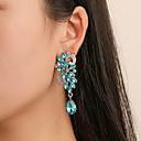 Χαμηλού Κόστους Σκουλαρίκια-Γυναικεία Σκουλαρίκι Πολυέλαιος Λουλούδι Κλασσικό Βίντατζ Κομψό Σκουλαρίκια Κοσμήματα Λευκό / Μπλε Για Πάρτι Καθημερινά Δουλειά Φεστιβάλ 1 Pair