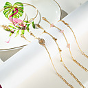 Χαμηλού Κόστους Λάμπες Καλαμπόκι LED-6pcs Γυναικεία Βραχιόλια Χειροπέδες Βραχιόλια Vintage Βραχιόλια Πολυεπίπεδο Κρεμαστό Arrow Απλός Κλασσικό Βίντατζ Etnic Μοντέρνα Κράμα Βραχιόλι Κοσμήματα Χρυσό Για / Σκουλαρίκια / βραχιόλι