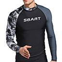 Χαμηλού Κόστους Σετ επιστήμης και εξερευνήσεων-SBART Ανδρικά Προστατευτικά Spandex Προστατευτικά Μπλούζα για κολύμβηση Αναπνέει Γρήγορο Στέγνωμα Υψηλή Ελαστικότητα Μακρυμάνικο Κολύμβηση Καταδύσεις Σέρφινγκ Patchwork