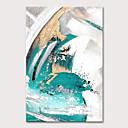 billige Abstrakte malerier-Hang malte oljemaleri Håndmalte - Abstrakt Pop Kunst Moderne Uten Indre Ramme