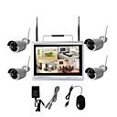 Χαμηλού Κόστους LED Φωτολωρίδες-4ch 960p οθόνη LCD 12dd οθόνη ασύρματο nvr kit CCTV κάμερα ασφαλείας σύστημα επιτήρησης wifi ip kit diy