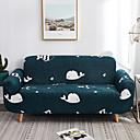 זול כיסויים-ספה לכסות לוויתן למתוח ארוך מודפס משולב רך פוליאסטר slipcovers