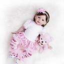 Χαμηλού Κόστους Κούκλες σαν αληθινές-Κούκλες σαν αληθινές Μωρά Κορίτσια 24 inch Παιδικό / Εφηβικό Παιδικά Παιχνίδια Δώρο
