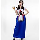 baratos Torneiras de Banheiro-Oktoberfest Dirndl Trachtenkleider Mulheres Vestido Bávaro Ocasiões Especiais Azul