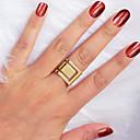 billige Ringer i sterlingsølv-Dame Ring 1pc Gull Legering Kvadrat Stilfull Unikt design Mote Gave Daglig Smykker geometriske Kul