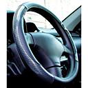 baratos TWS Fones de ouvido sem fio verdadeiros-LITBest Capas para Volante Fibra de carbono 38cm Preto Para Universal Todos os Anos