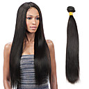 povoljno Sintetičke perike s čipkom-1 paket Indijska kosa Ravan kroj Virgin kosa Ljudske kose plete 8-26 inch Crna Isprepliće ljudske kose Proširenja ljudske kose / 10A
